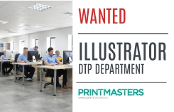 Illustrator / DTP department Wanted